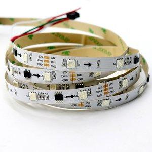 Светодиодная лента RGB SMD5050, WS2811 (белая, c  управлением, IP20, 12 В, 30 диодов/м, 5 м)