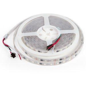 Світлодіодна стрічка RGB SMD5050, WS2811 (біла, з управлінням, IP67, 12 В, 60 діодів/м, 5 м)