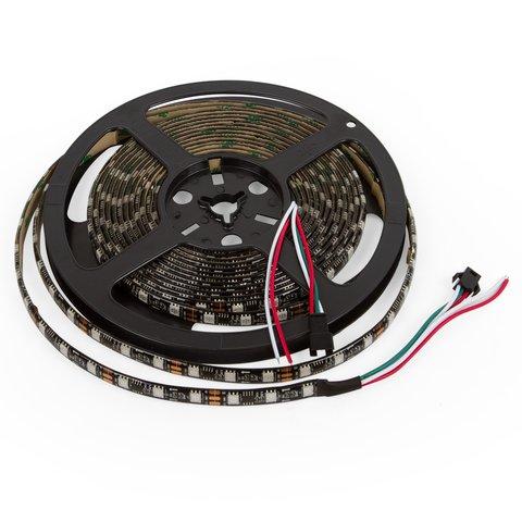 Світлодіодна стрічка RGB SMD5050, WS2811 чорна, з управлінням, IP65, 12 В, 60 діодів м, 1 м