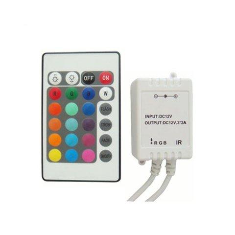 Контролер з ІЧ пультом HTL 43 RGB, 5050, 3528, 72 Вт