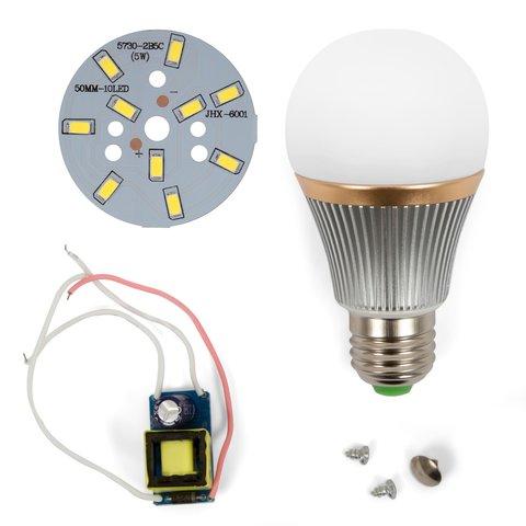 LED Light Bulb DIY Kit SQ Q22 5730 5 W cold white, E27