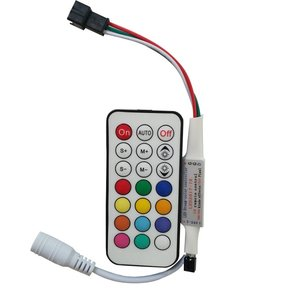LED Controller with IR Remote Control LED2017-IR (RGB, WS2811, WS2812, WS2813, 5-24 V)